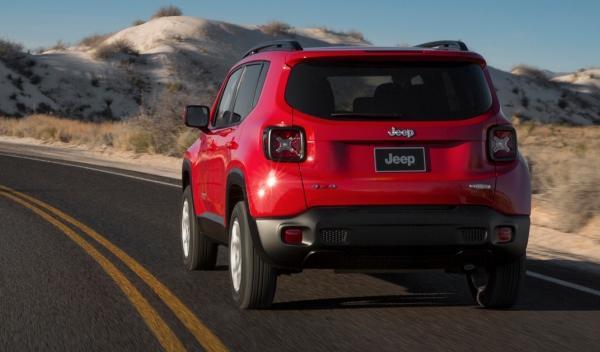 Trasera del Jeep Renegade
