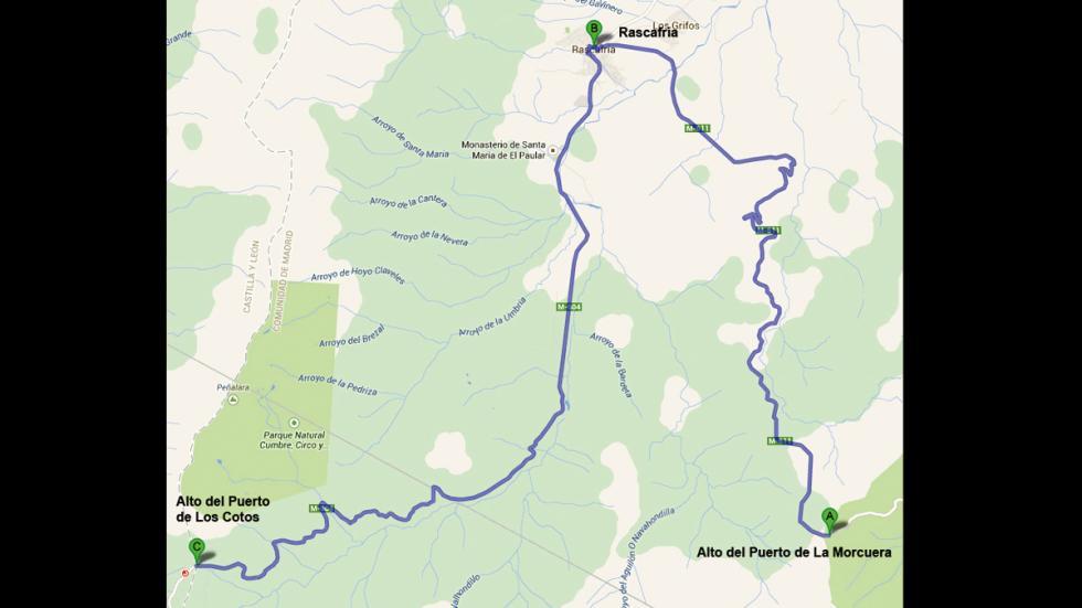 Mapa ruta Rascafría