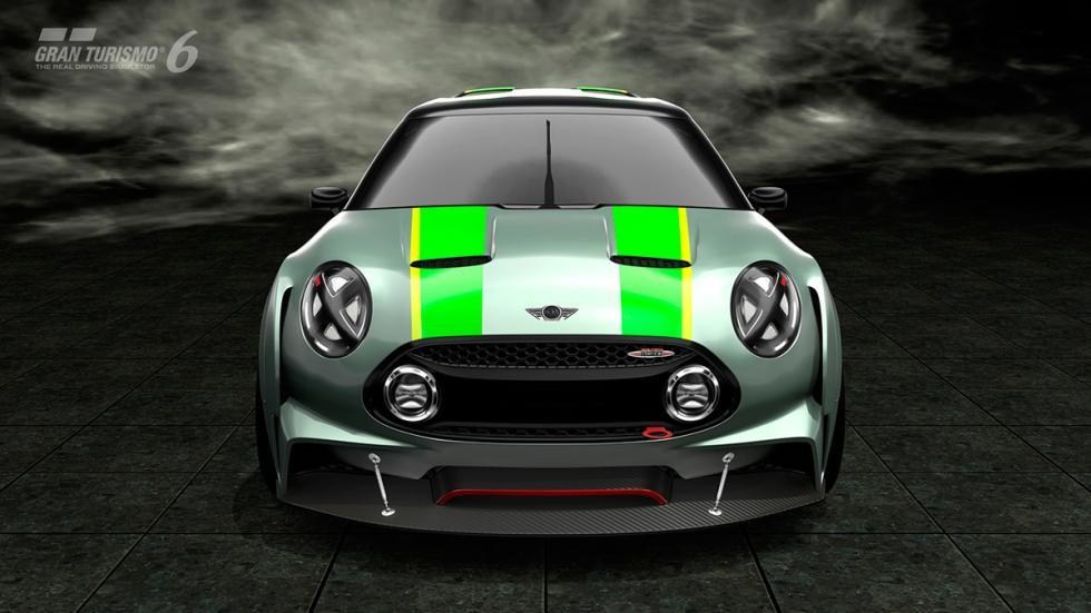 Mini Clubman JCW Vision Gran Turismo - frontal raya verde
