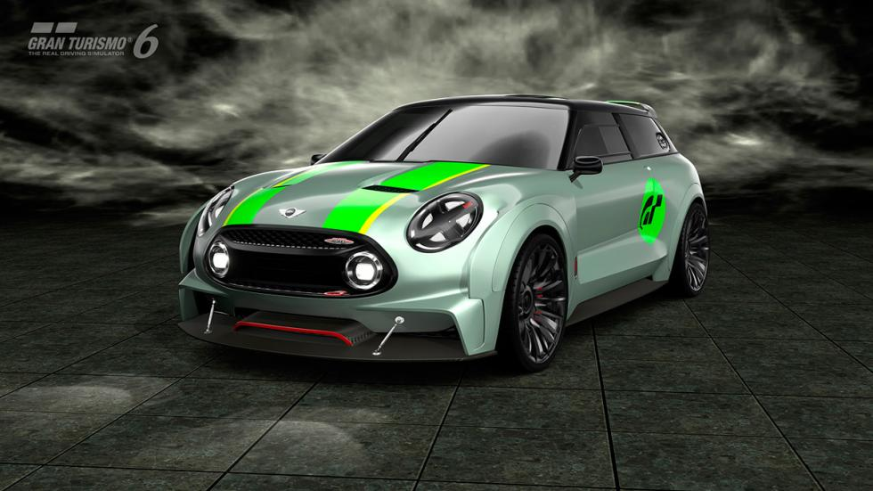 Mini Clubman JCW Vision Gran Turismo - 3/4 delantero raya verde