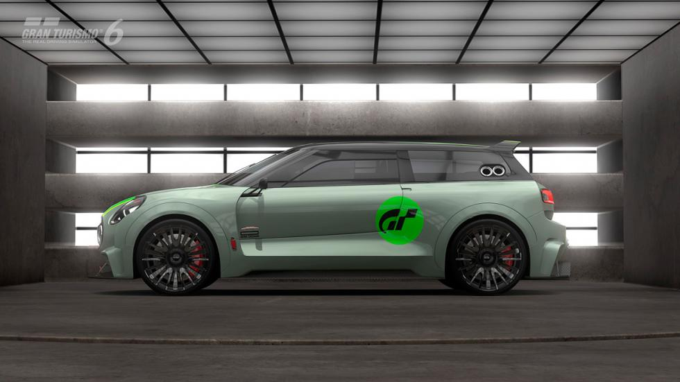 Mini Clubman JCW Vision Gran Turismo - lateral raya verde