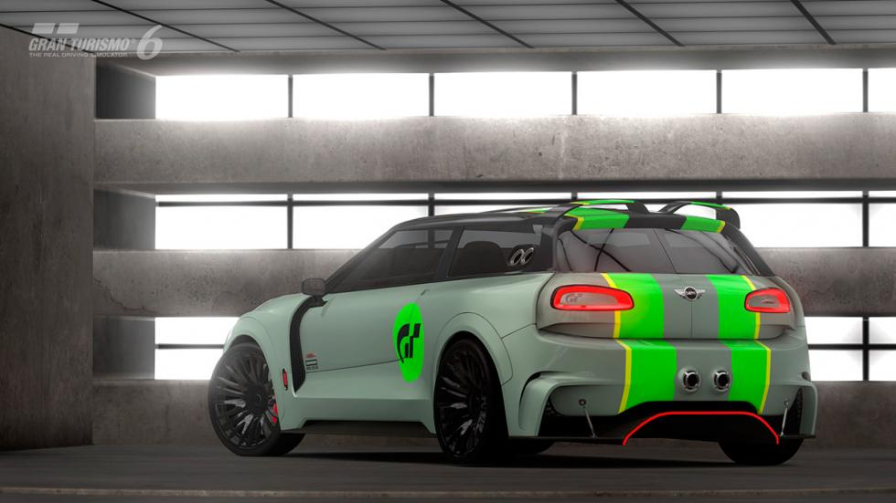 Mini Clubman JCW Vision Gran Turismo - trasera raya verde