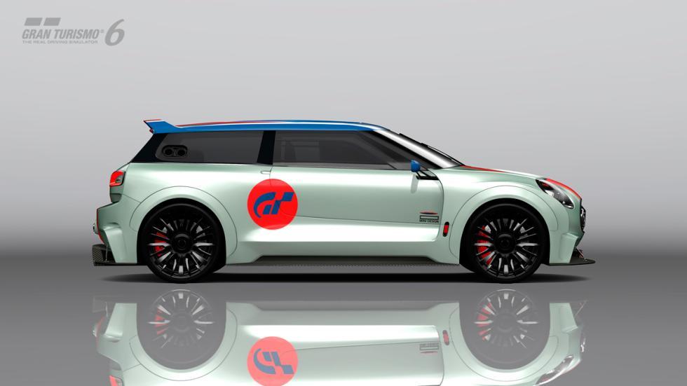 Mini Clubman JCW Vision Gran Turismo - lateral raya roja