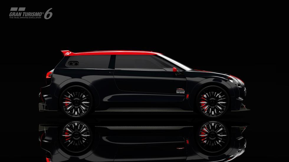 Mini Clubman JCW Vision Gran Turismo - lateral negro