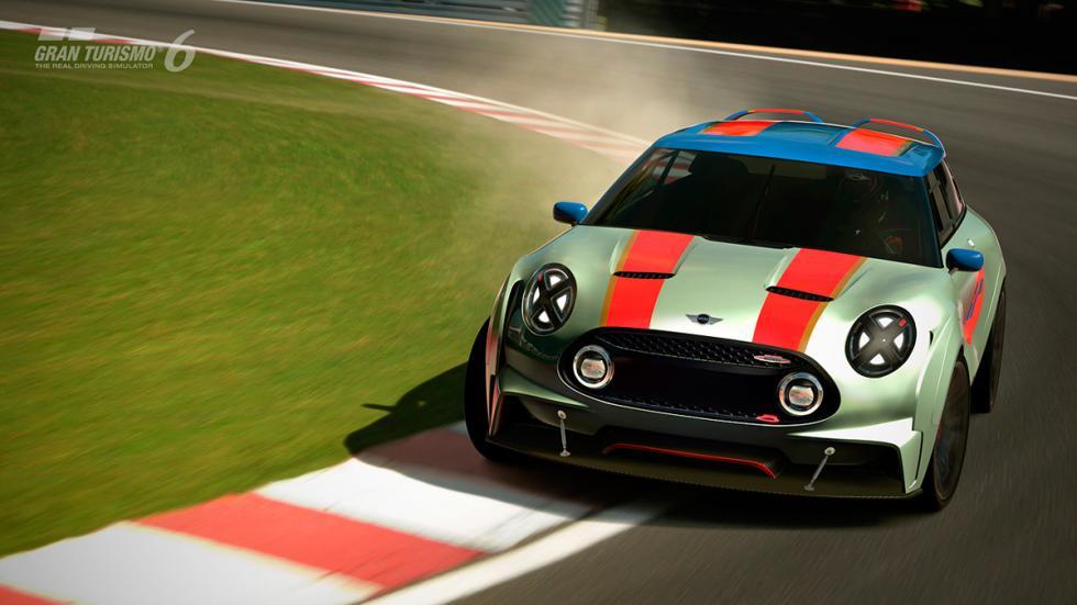 Mini Clubman JCW Vision Gran Turismo - raya roja circuito frontal
