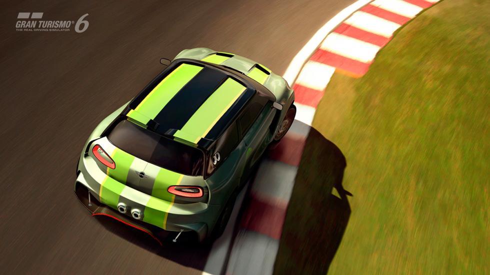 Mini Clubman JCW Vision Gran Turismo - raya roja circuito aérea