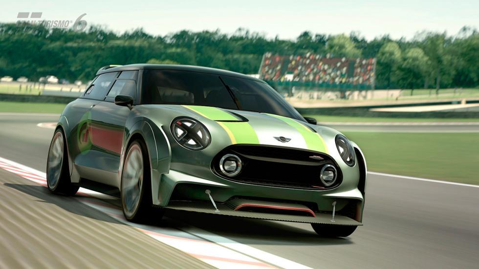 Mini Clubman JCW Vision Gran Turismo - raya roja circuito corriendo