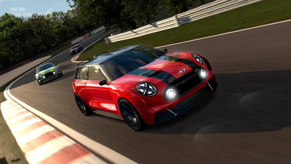 Mini Clubman JCW Vision Gran Turismo - rojo delantera circuito