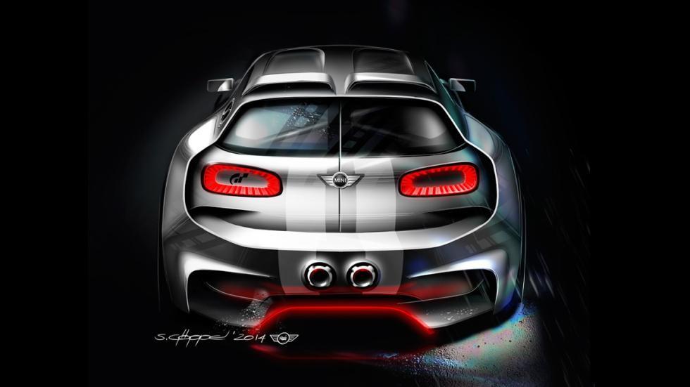 Mini Clubman JCW Vision Gran Turismo - boceto trasera