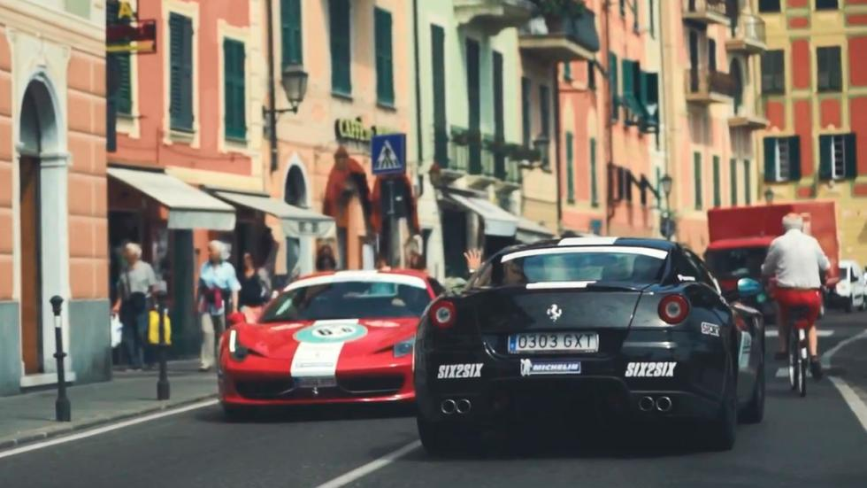 Ruta europea 6to6 - Ferrari negro y rojo