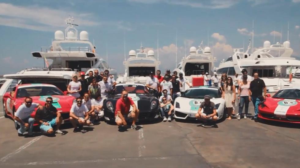Ruta europea 6to6 - foto de grupo en el puerto