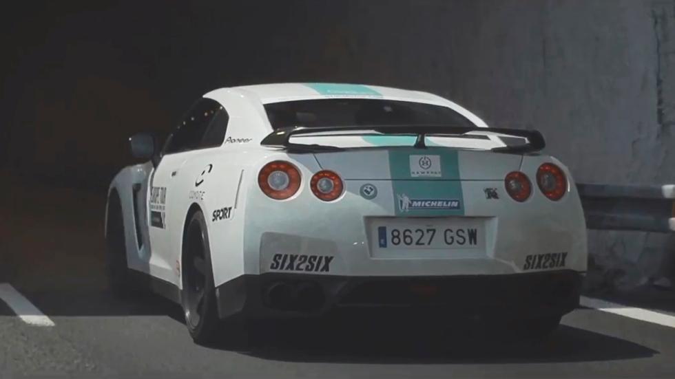 Ruta europea 6to6 - Nissan GT-R trasera