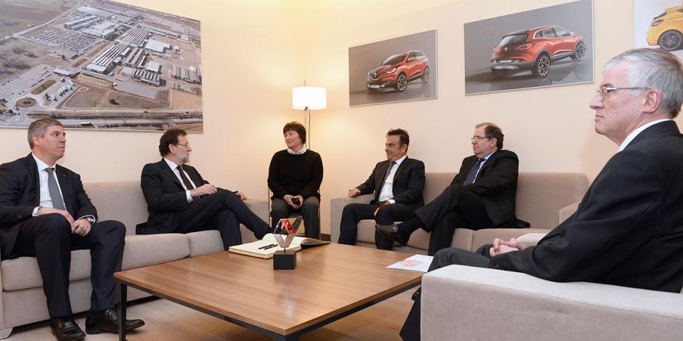 Reunión de Carlos Ghosn con el Presidente del Gobierno en España
