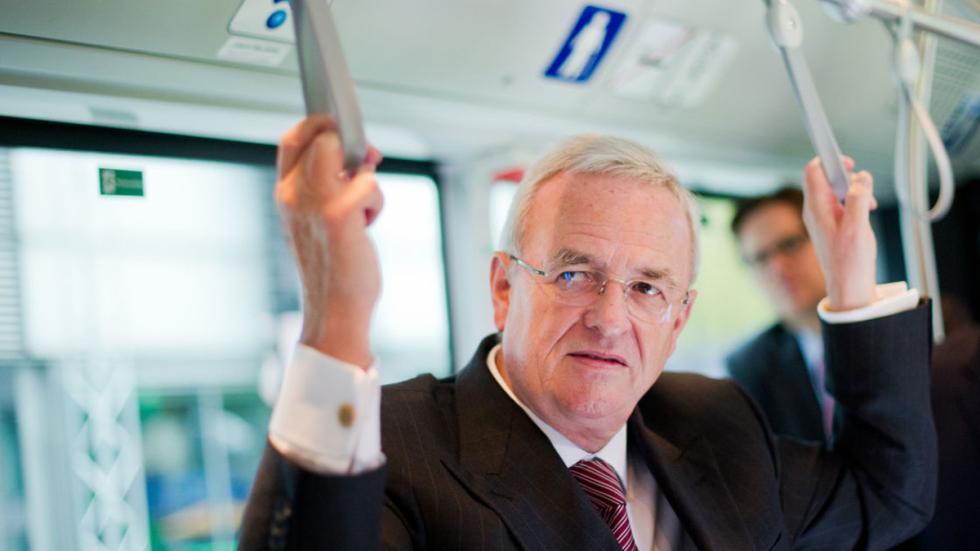 Martin Winterkorn Salón de vehículos industriales en autobús dentro