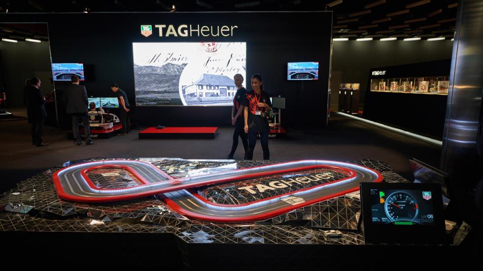 Exposición de Tag Heuer: 30 años de historia con McLaren - slot cronometrado