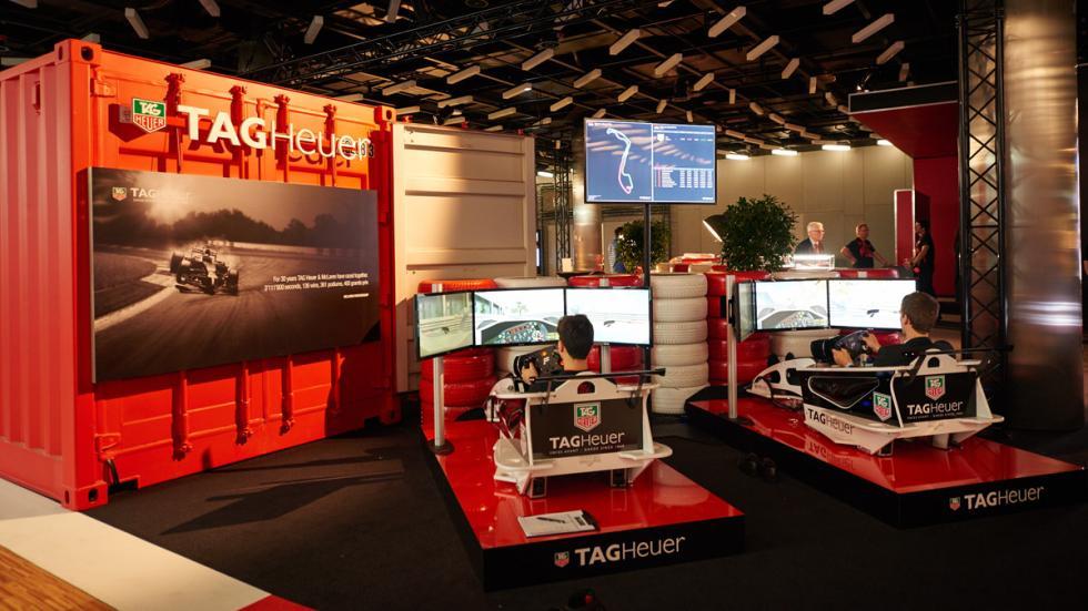 Exposición de Tag Heuer: 30 años de historia con McLaren - simuladores