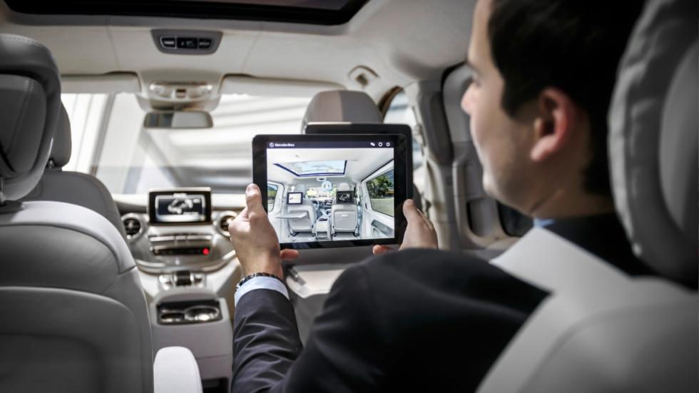 Mercedes Concept V-ision internet