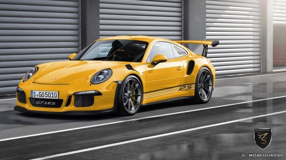 Colores del nuevo Porsche 911 GT3 RS 2015 Speed Yellow delantera