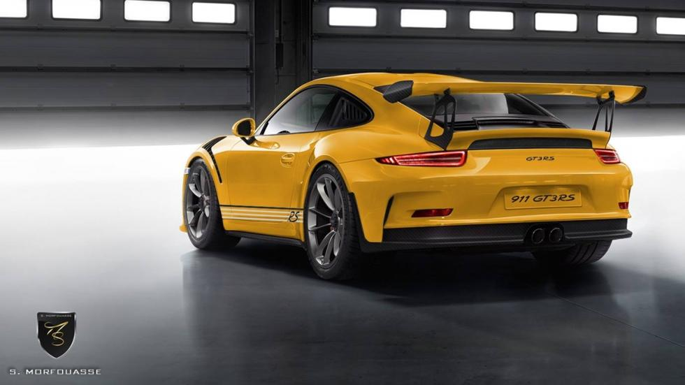Colores del nuevo Porsche 911 GT3 RS 2015 Speed Yellow trasera
