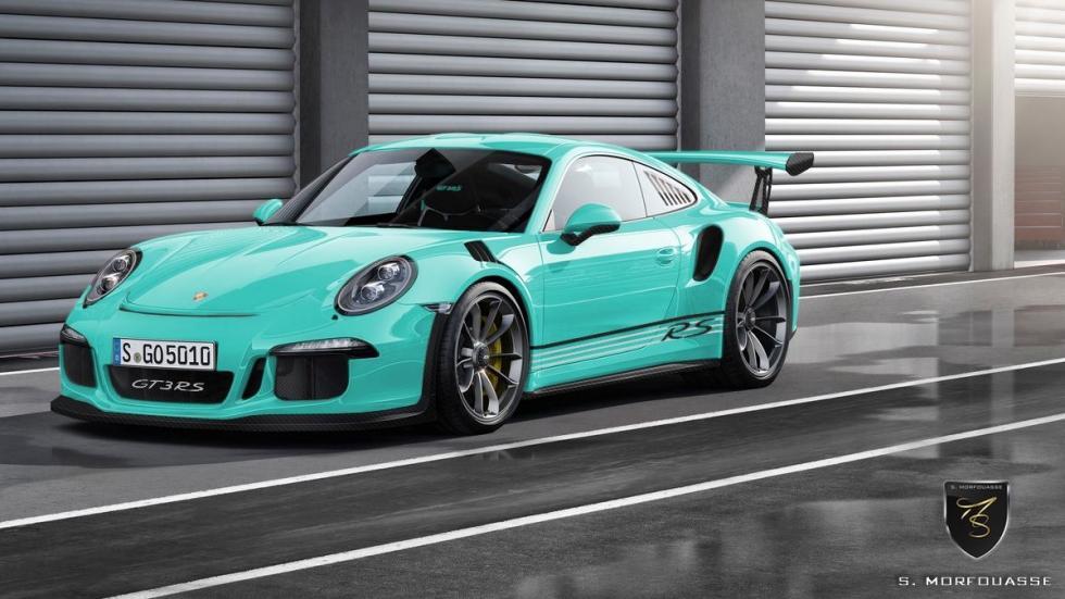 Colores del nuevo Porsche 911 GT3 RS 2015 Mint Green delantera