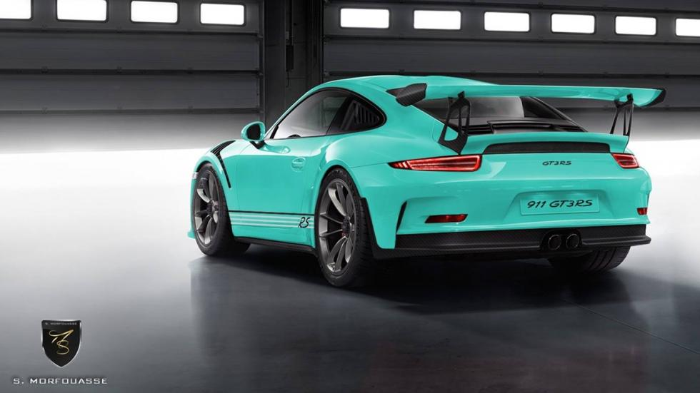 Colores del nuevo Porsche 911 GT3 RS 2015 Mint Green trasera