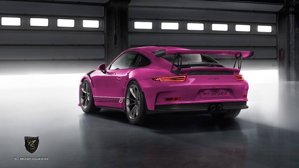 Colores del nuevo Porsche 911 GT3 RS 2015 Fuchsia trasera