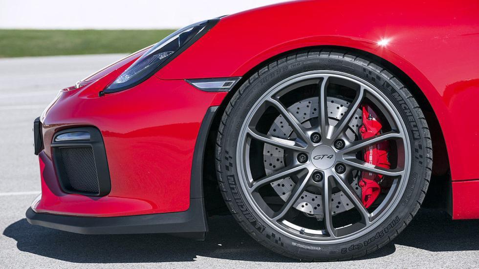 Prueba: Porsche Cayman GT4 2015 detalle estático llanta