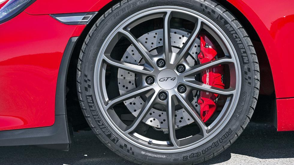 Prueba: Porsche Cayman GT4 2015 detalle estático rueda