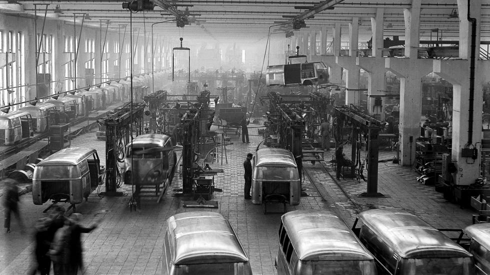 65 aniversario del Volkswagen Transporter 'Bulli' - fábrica