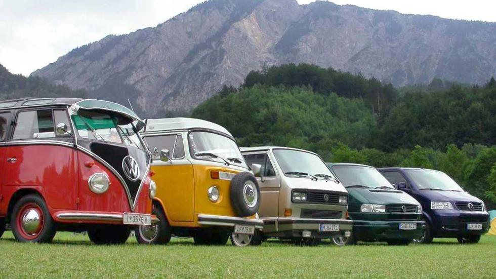 65 aniversario del Volkswagen Transporter 'Bulli' - cinco generaciones