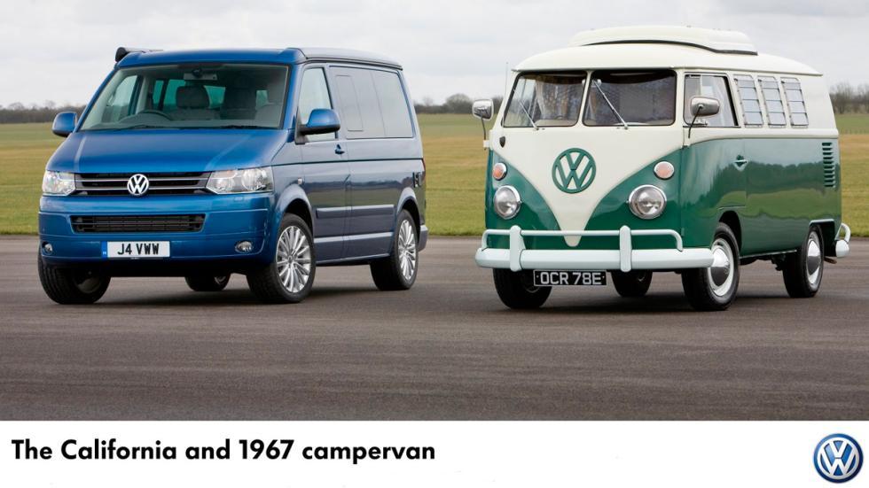 65 aniversario del Volkswagen Transporter 'Bulli' - VW T1 y T5