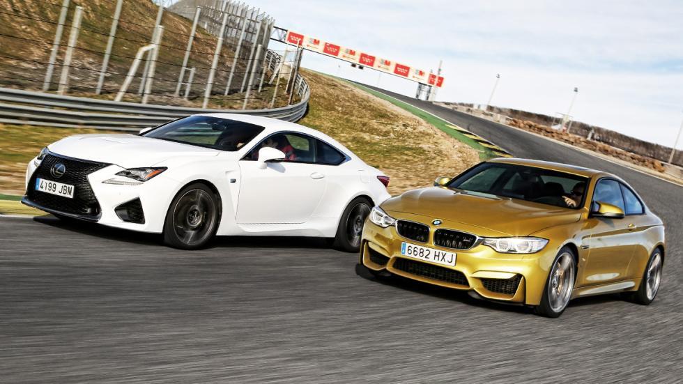 BMW-M4-Lexus-RC-F-tres-cuartos-delantera
