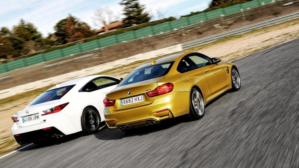 BMW-M4-Lexus-RC-F-tres-cuartos-trasera