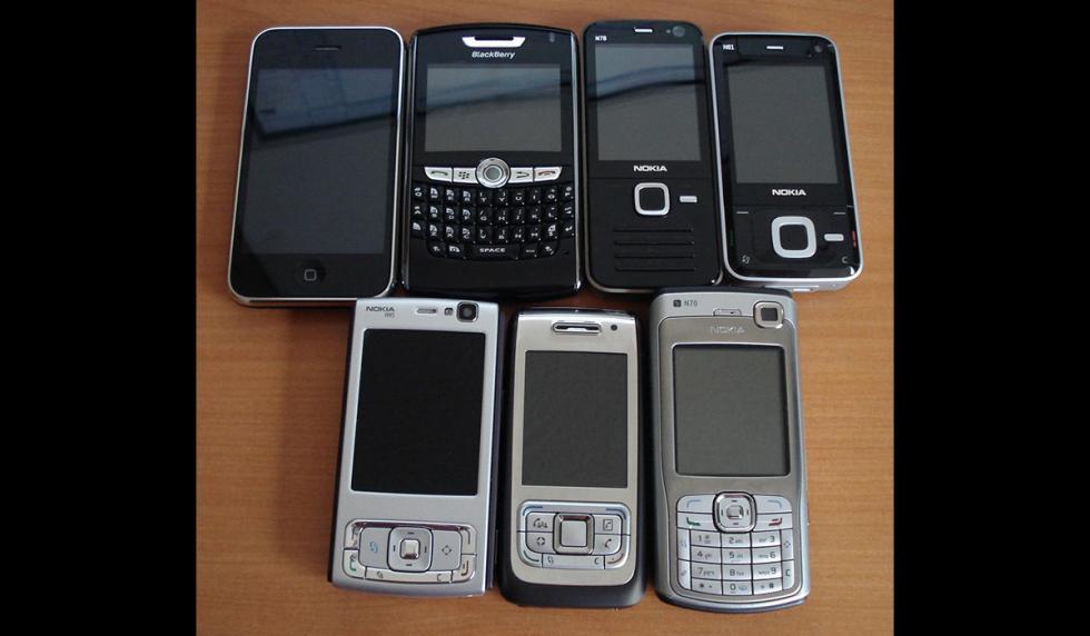 Móviles de diferentes tamaños