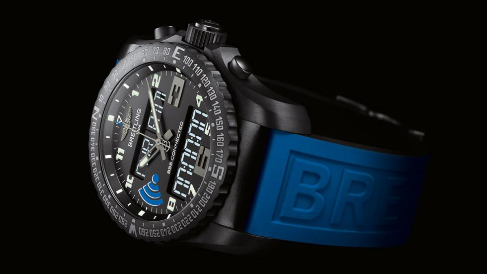 Correa en azul para el Breitling Calibre B55 Connected