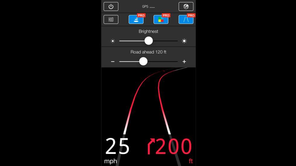 HUDWAY - medición en millas/h