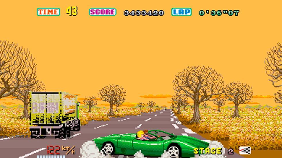 3D Out Run para Nintendo 3DS - deportivo verde
