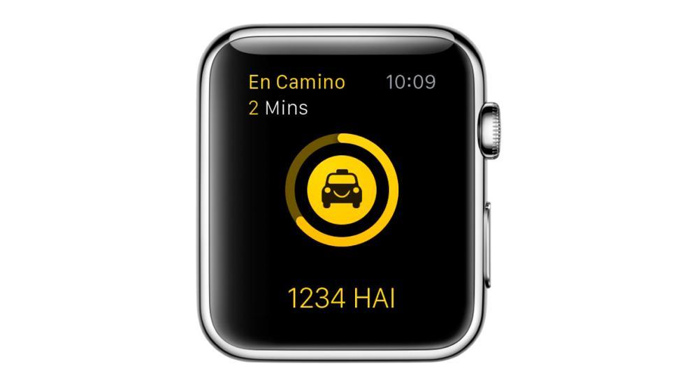 App Hailo para pedir taxi desde smartwatch - tiempo