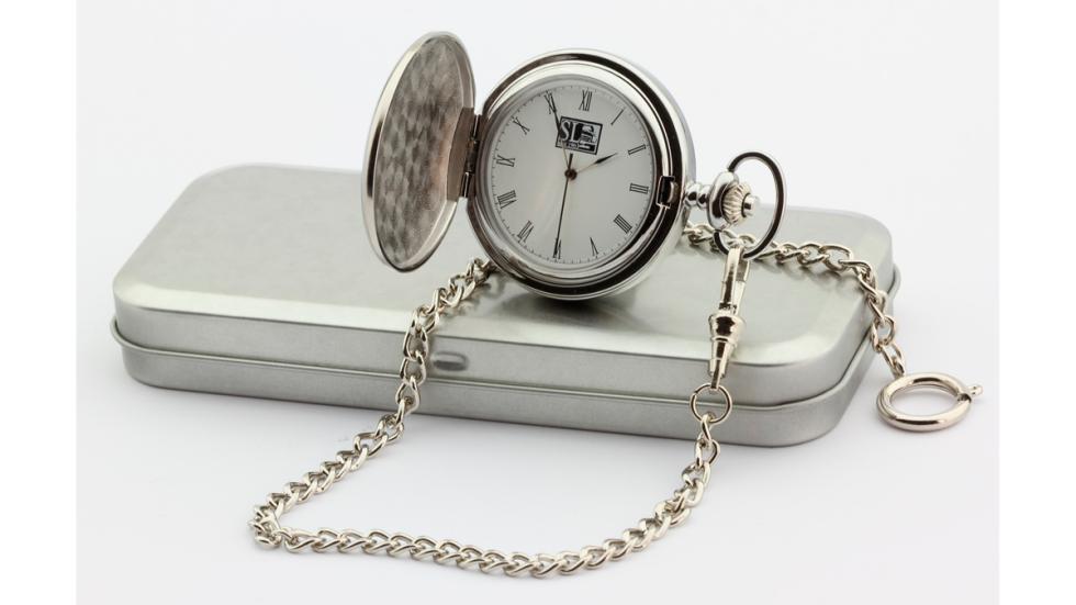 Reloj de bolsillo 69 Pit Stop - reloj abierto y caja