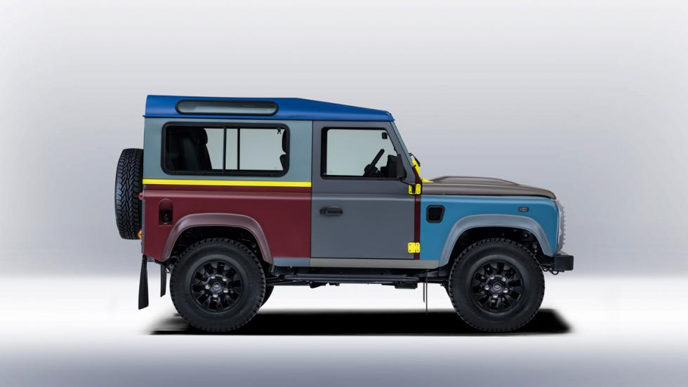 Land Rover Defender de Paul Smith - lateral derecho