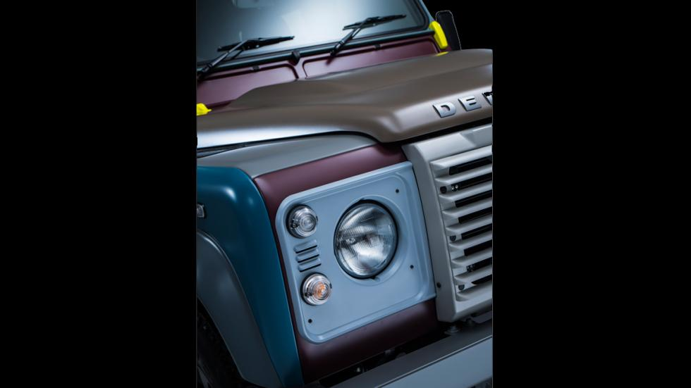 Land Rover Defender de Paul Smith - parrilla