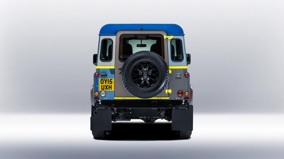 Land Rover Defender de Paul Smith - portón