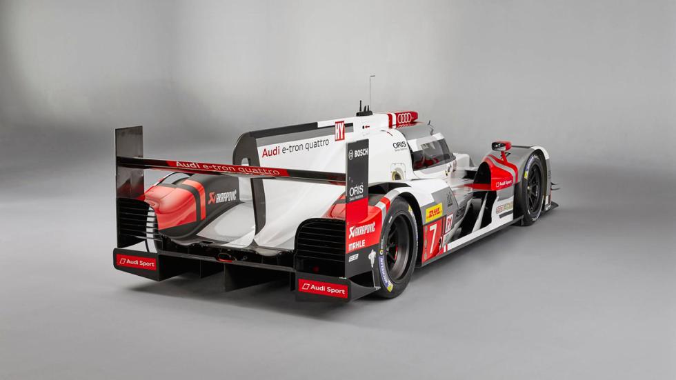 Audi R18 e-tron tres cuartos traseros