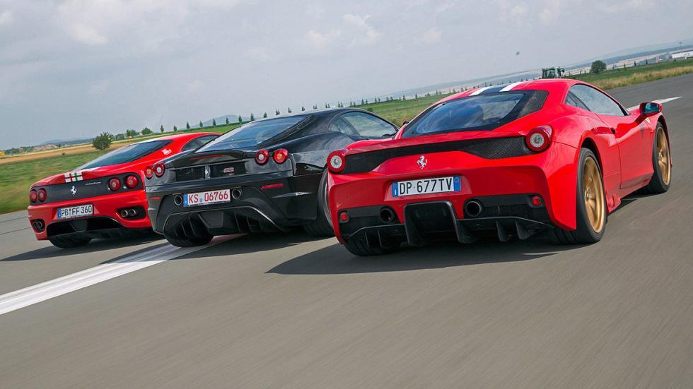Zagas: 458 Speciale, 430 Scuderia, 360 Challenge Stradale.