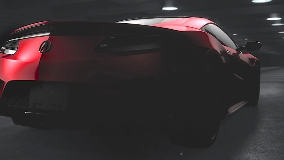 teaser Honda NSX 2015 trasera
