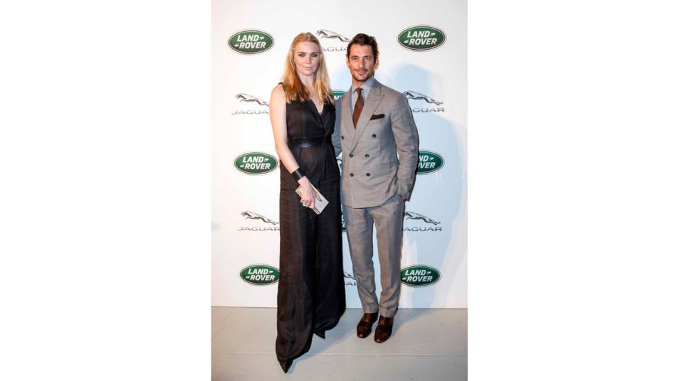 Fiesta en NY para Jaguar XF-Jodie Kidd y David Gandy