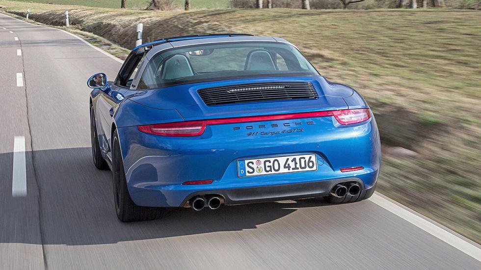 Prueba: Porsche 911 Targa GTS trasera dinámica