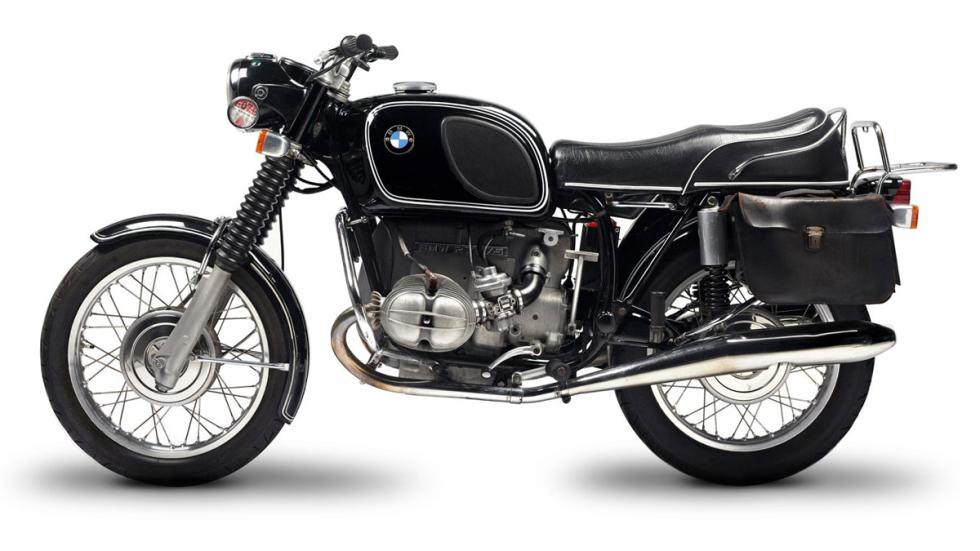 BMW R75/5, con motor bóxer bicilíndrico