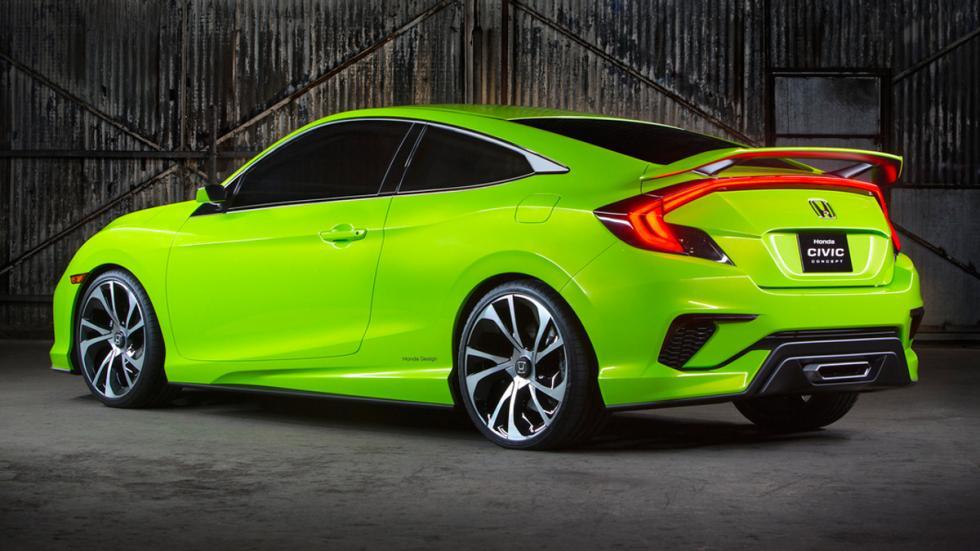 Honda Civic Concept tres cuartos traseros