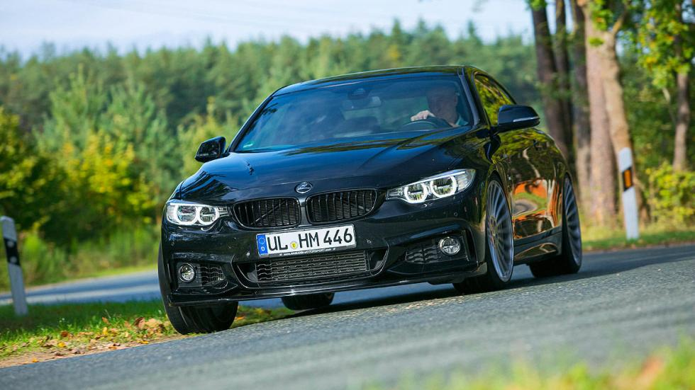 BMW 435i xDrive de Hamann lateral curva